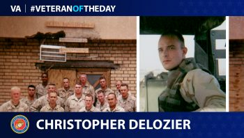 Marine Corps Veteran Christopher M. Delozier is today's Veteran of the Day.
