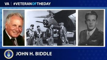Air Force Veteran John H. Biddle is today's Veteran of the Day.