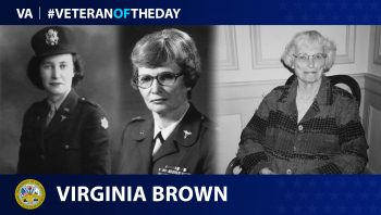 Army Veteran Virginia Louise Brown is today's Veteran of the Day.