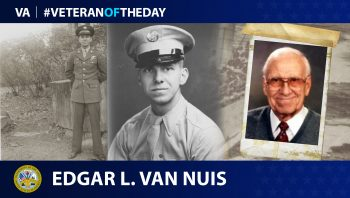 Army Veteran Edgar L. Van Nuis is today's Veteran of the Day.