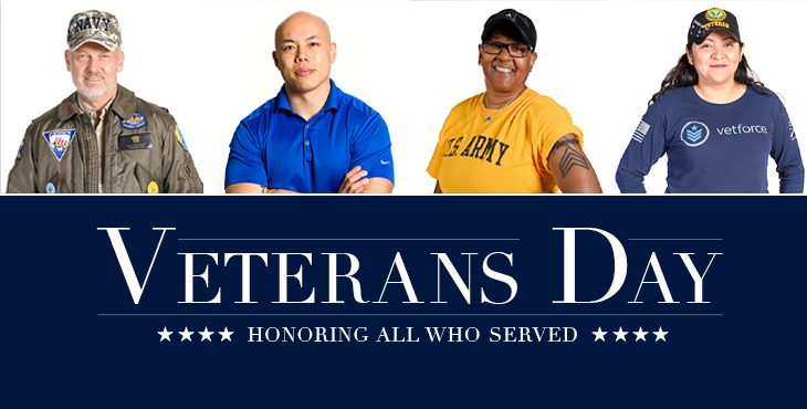 Graphic for Secretary Wilkie's Veterans Day 2019 message.
