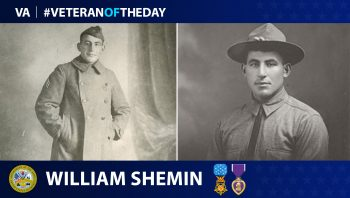 Army Veteran William Shemin is today's Veteran of the Day.