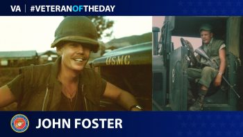 Marine Corps Veteran John E. Foster is today's Veteran of the Day.