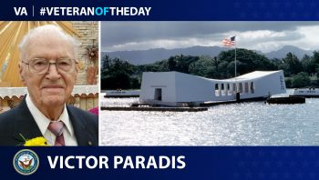 Navy Veteran Victor Paradis is today's Veteran of the Day.
