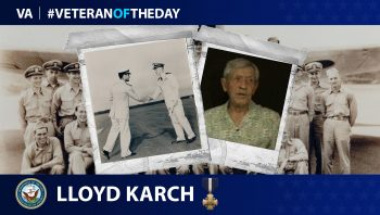 Navy Veteran Lloyd E. Karch is today's Veteran of the Day.