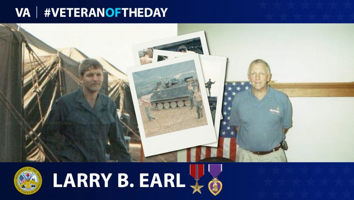 Army Veteran Larry B. Earl is today's Veteran of the Day.