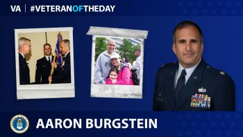 "Air Force Veteran Aaron ""Chewy"" Burgstein is today's Veteran of the Day."