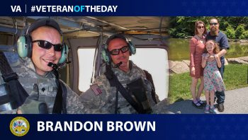 Army Veteran Brandon M. Brown is today's Veteran of the Day.