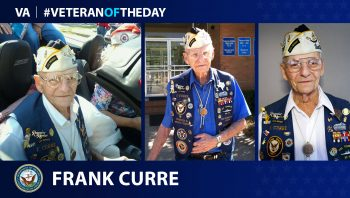 Navy Veteran Frank Curre is today's Veteran of the Day.