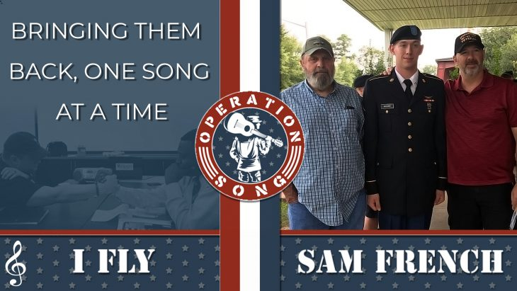 """Operation Song post featuring Sam French and his song """"I Fly."""""""