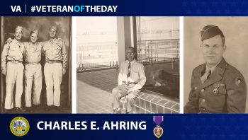 Army Veteran Charles E. Ahring is today's #VeteranOfTheDay.
