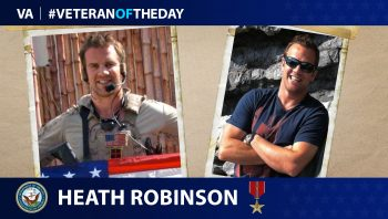 Navy Veteran Heath Robinson is today's Veteran of the Day.