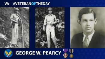Army Air Forces Veteran George Washington Pearcy is today's Veteran Of The Day.