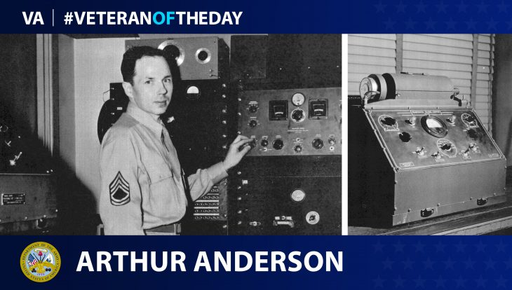 Army Veteran Arthur Grant Anderson is today's Veteran of the Day.