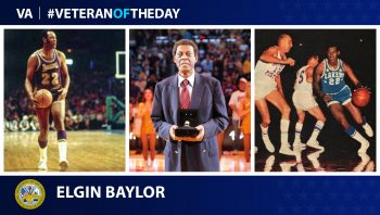 Army Veteran Elgin Baylor is today's Veteran of the Day.