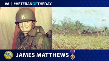 Army Veteran James Milton Mathews is today's Veteran of the Day.