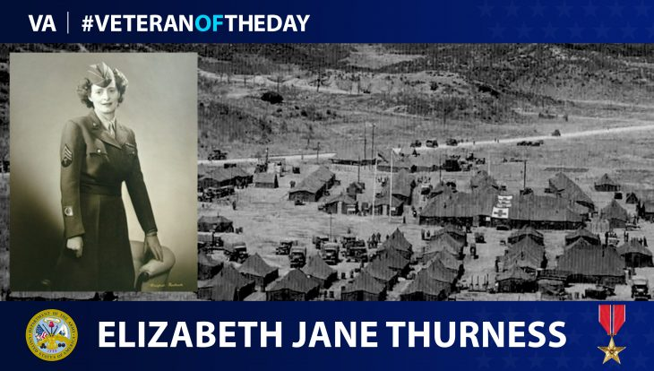 Army Veteran Elizabeth Jane Thurness is today's Veteran of the Day.