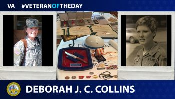 Army Veteran Deborah Jean Christian Collins is today's Veteran of the Day.