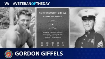 Marine Corps Veteran Gordon Giffels is today's Veteran of the Day.