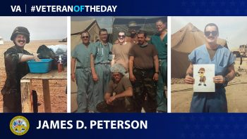 """Army Veteran James """"Dean"""" Peterson is today's Veteran of the Day."""