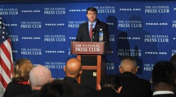 VA Secretary Robert Wilkie gives a State of the VA speech Feb5 at the National Press Club in Washington D C VA Photo by Robert Turtil