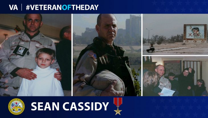 Army Veteran Sean Lydon Cassidy is today's Veteran of the Day.