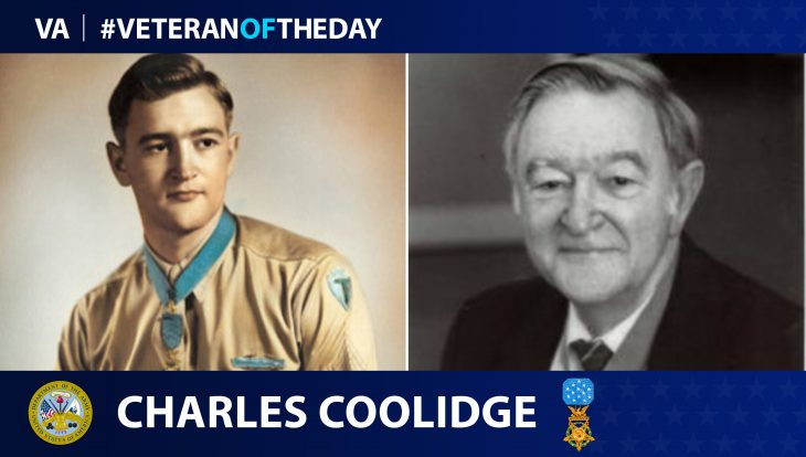 Army Veteran Charles Coolidge is today's Veteran of the Day.