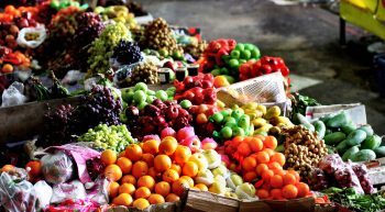 Photo of many fruits and vegetables