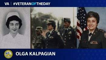Army Veteran Olga Kalpagian is today's Veteran of the Day.