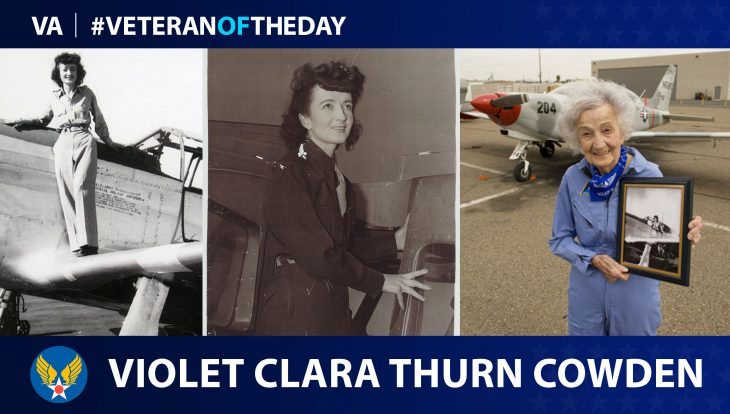 Army Air Forces Veteran Violet Clara Thurn Cowden is today's Veteran of the Day.