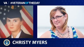 Air Force Veteran Christy Myers is today's Veteran of the Day.