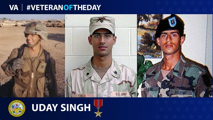 Army Veteran Uday Singh is today's Veteran of the Day.