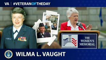 Air Force Veteran Wilma L. Vaught is today's Veteran of the Day.