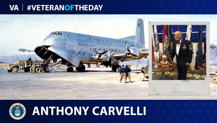 Air Force Veteran Anthony Carvelli is today's Veteran of the Day.