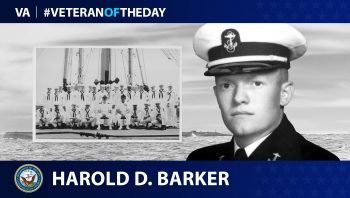 Navy Veteran Harold Douglas Barker is today's Veteran of the Day.