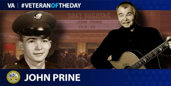 Army Veteran John Prine is today's Veteran of the Day.