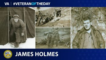 Army Veteran James Day Merle Holmes is today's Veteran of the Day.