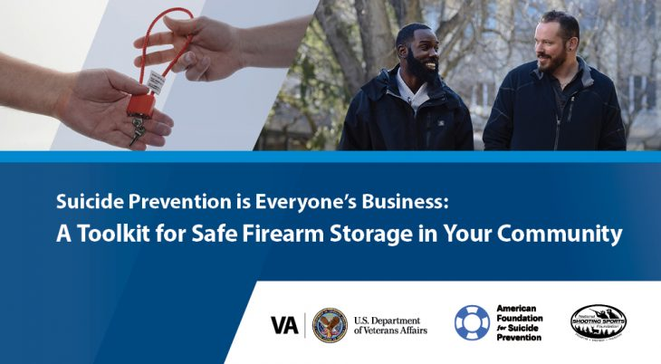 VA's new safe firearm storage toolkit published.