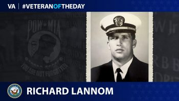 Navy Veteran Richard Lannom is today's Veteran of the Day.