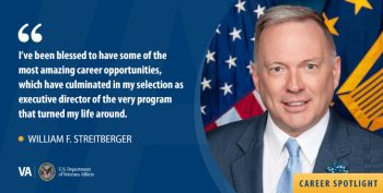 William F. Streitberger, executive director of VA's Vocational Rehabilitation and Employment Program.
