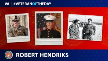 Marine Veteran Robert Hendriks is today's Veteran of the Day.
