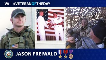 Navy Veteran Jason Freiwald is today's Veteran of the Day.