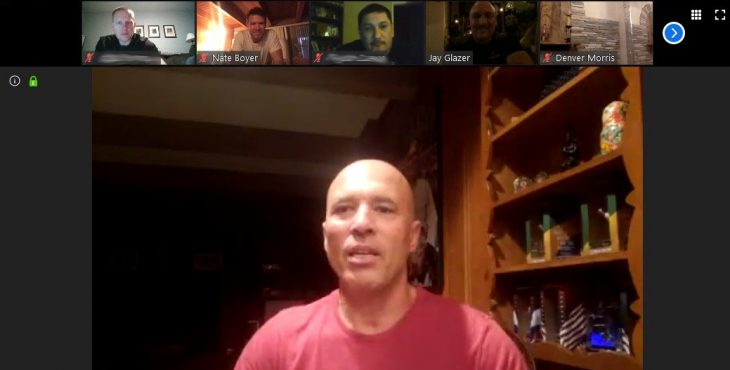 UFC legend Royce Gracie speaks during the April 15 Merging Vets and Players virtual session.