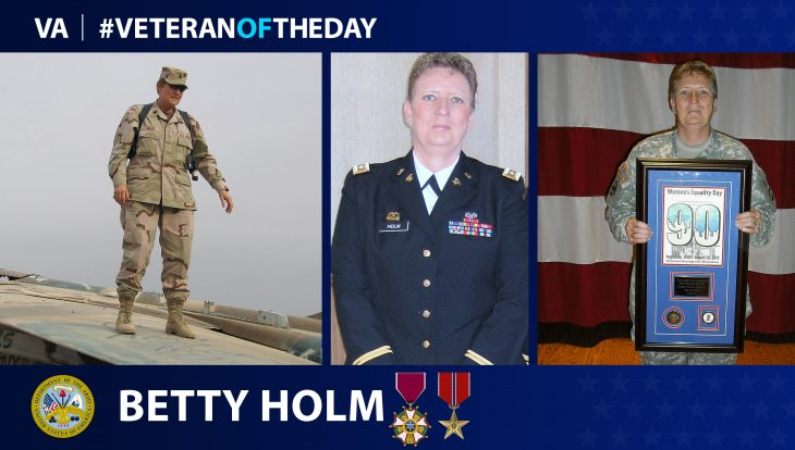 Army Veteran Betty Holm is today's Veteran of the Day.