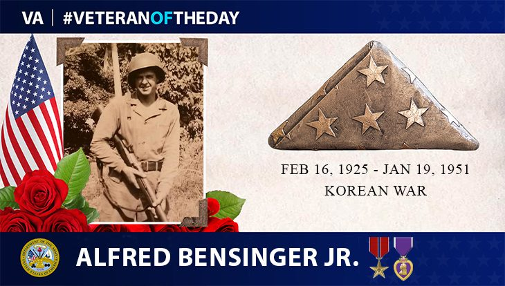 Army Veteran Alfred G. Bensinger is today's Veteran of the Day.
