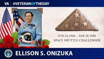 Air Force Veteran Ellison Onizuka is today's Veteran of the Day.