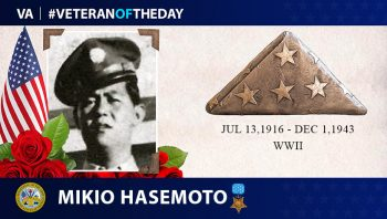 Army Veteran Mikio Hasemoto is today's Veteran of the Day.