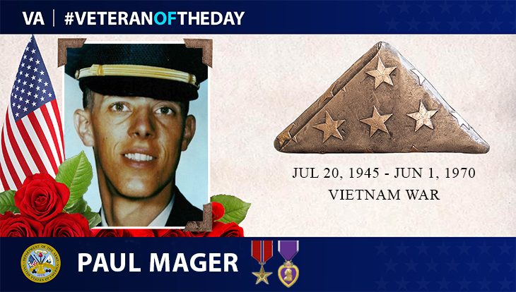 Army Veteran Paul Magers is today's Veteran of the Day.