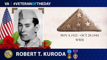 Army Veteran Robert T. Kuroda is today's Veteran of the Day.