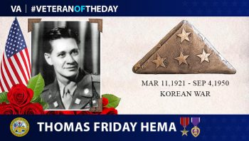 Army Veteran Thomas Friday Keahanui Hema is today's Veteran of the Day.